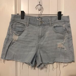 Old Navy light wash denim shorts